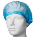 Czepki z gumką z włókniny jednorazowe typu CLIP (100 szt., niebieskie)