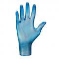 Rękawice winylowe jednorazowe do prac gosp. i kontaktu z żywnością (100 szt., niebieskie)